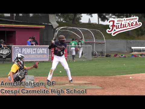 Armett Johnson, OF, Crespi Carmelite High School, Batting Practice Session