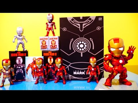 Iron Man 3 Full Set Light Up Figures 2014 Sci Fi Series Kids Nations Toys - Disney Cars Toy Club