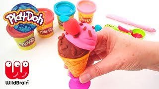 PLAY DOH | Craft Your own Ice Cream Van Cone | craft for kids | Crafty Kids