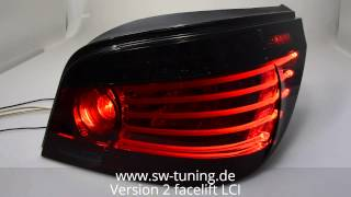 SWCelis LED Rückleuchten für BMW E60 5er red/smoke SW-Tuning