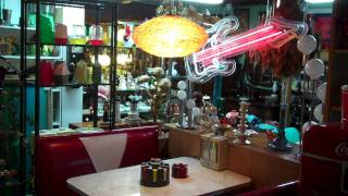1950's Retro Diner Booth at The Swap Shop Antique Store
