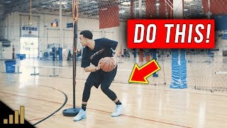 How to: EASILY Beat Tight Pressure Defense Using A REVERSE DRIBBLE MOVE!