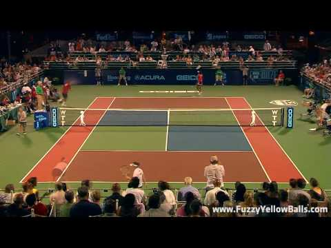 Venus Williams vs. Martina Hingis - Washington Kastles World Team Tennis 2010
