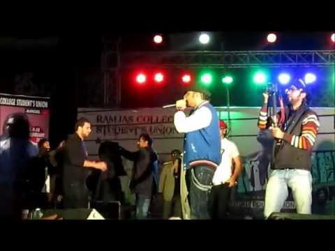 Honey singh in Ramjas College University of Delhi Part-3