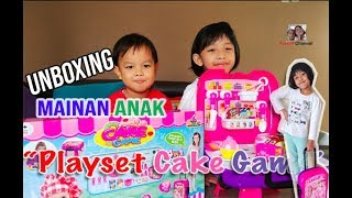 Unboxing mainan anak Playset Cake Game || Playset toys || Kue mainan