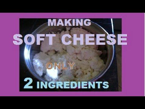 Recipe:  2 Ingredients Soft Cheese (Milk+Buttermilk)