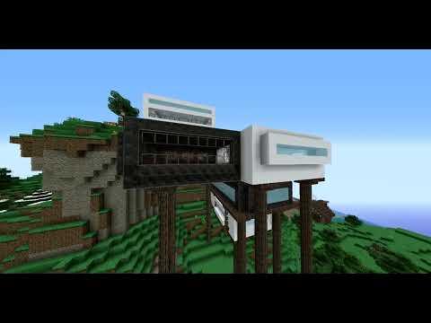 Modern mountain house | Minecraft Timelapse (Casa moderna en la montaña+DESCARGA)