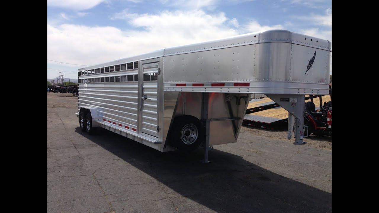 8127 Livestock Trailer Gooseneck Stock Trailer