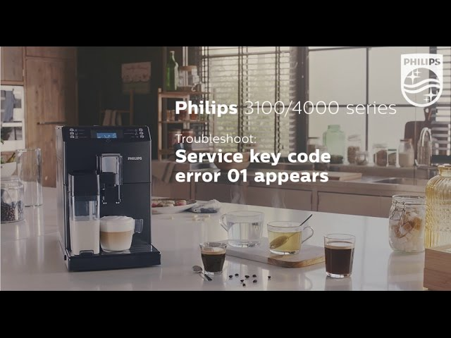 Service key error code 01 appears on the display of my Philips espresso machine.