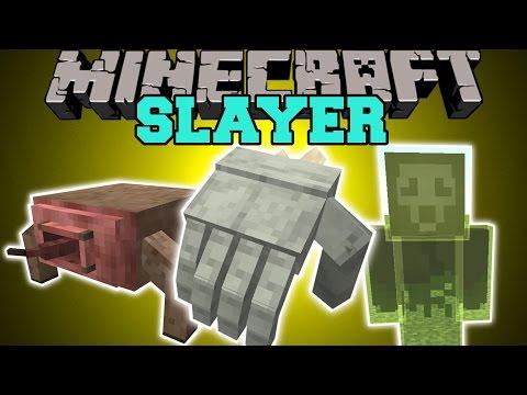 Minecraft: SLAYER (CRAWLING HANDS, GARGOYLES, UNICORNS, & MORE!) Mod Showcase