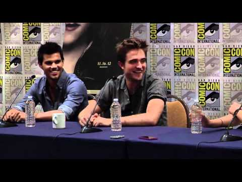 Breaking Dawn Part 2 Comic Con 2012 Panel #1 - Robert Pattinson, Kristen Stewart, Taylor Lautner
