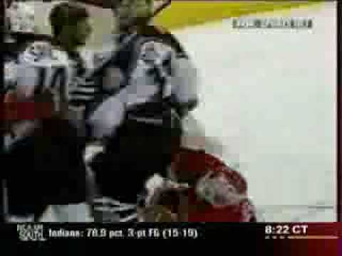 Dominik Hasek vs. Patrick Roy Fight Video