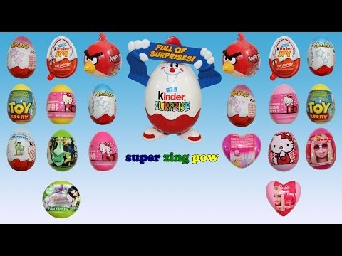 20 Surprise Eggs – Brinquedos Surpresa – Kinder Surprise Disney Princess Barbie Ben10 ToyStory