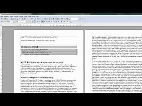 21 Ein Inhaltsverzeichnis automatisch erzeugen lassen - OpenOffice / LibreOffice Writer