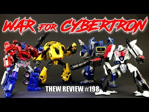 WFC Party! Optimus Prime. Bumblebee. Megatron. Soundwave: Thew's Awesome Transformers Reviews #198