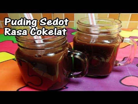 Resep Cara Membuat Puding Sedot Rasa Cokelat(Pudot)
