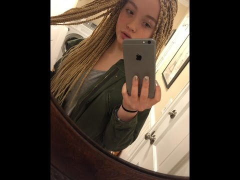 14 Year Old White Girl Get Attacked On Social Media Over Her Blond Box Braids. Wtf??? video