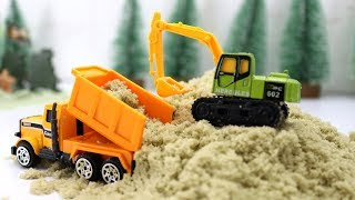 Excavator building the Parking in Army. | ก่อสร้างลานจอดเครื่องบิน