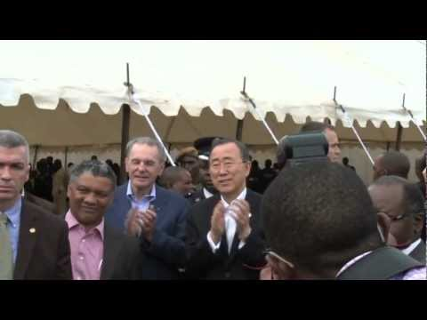 UN Secretary-General and IOC President visit Fountain of Hope Centre, Lusaka, Zambia