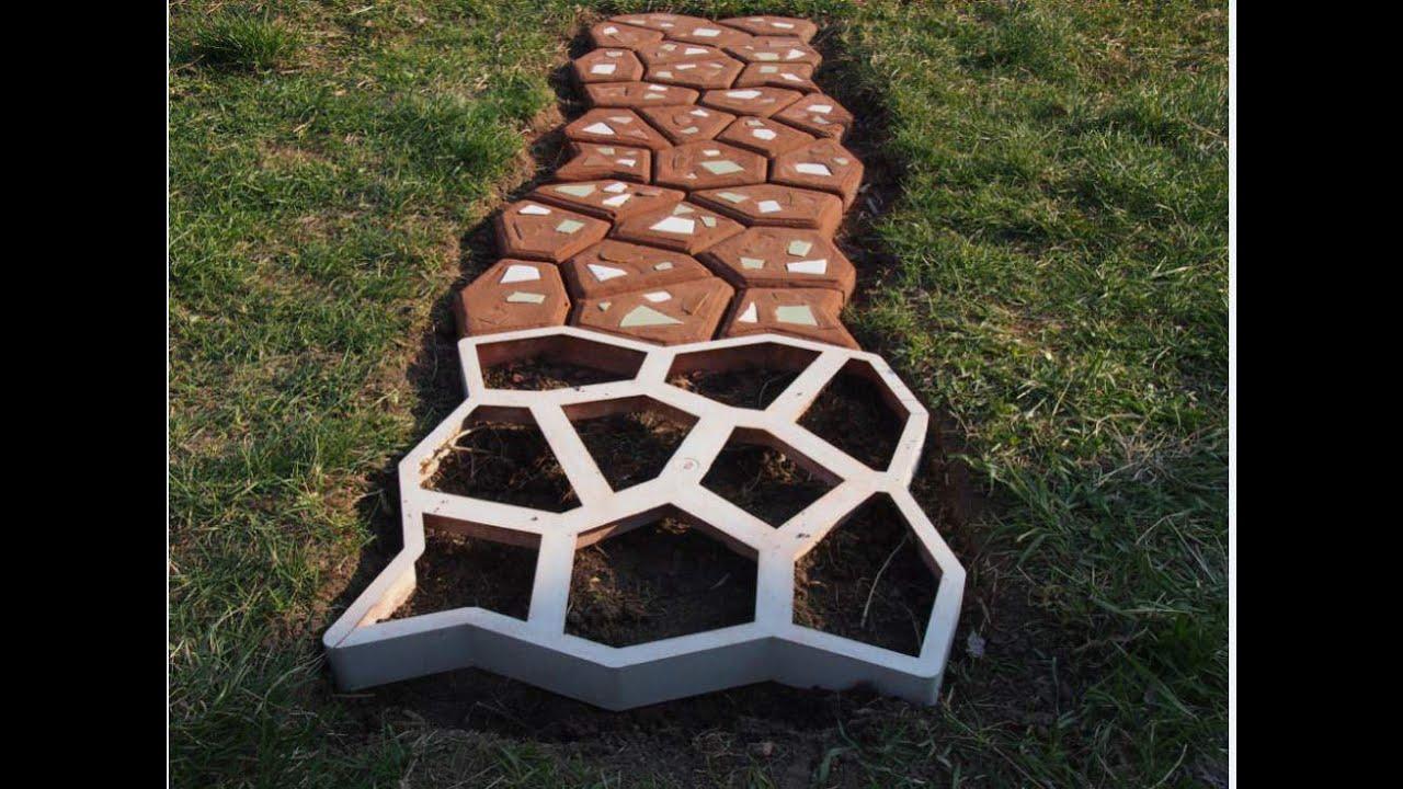 Плитка на садовые дорожки своими руками 36