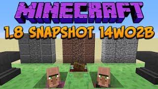 Minecraft 1.8: Snapshot 14w02b: Slime Block, Granite, Diorite, Andesite, Enchanting & Trading!