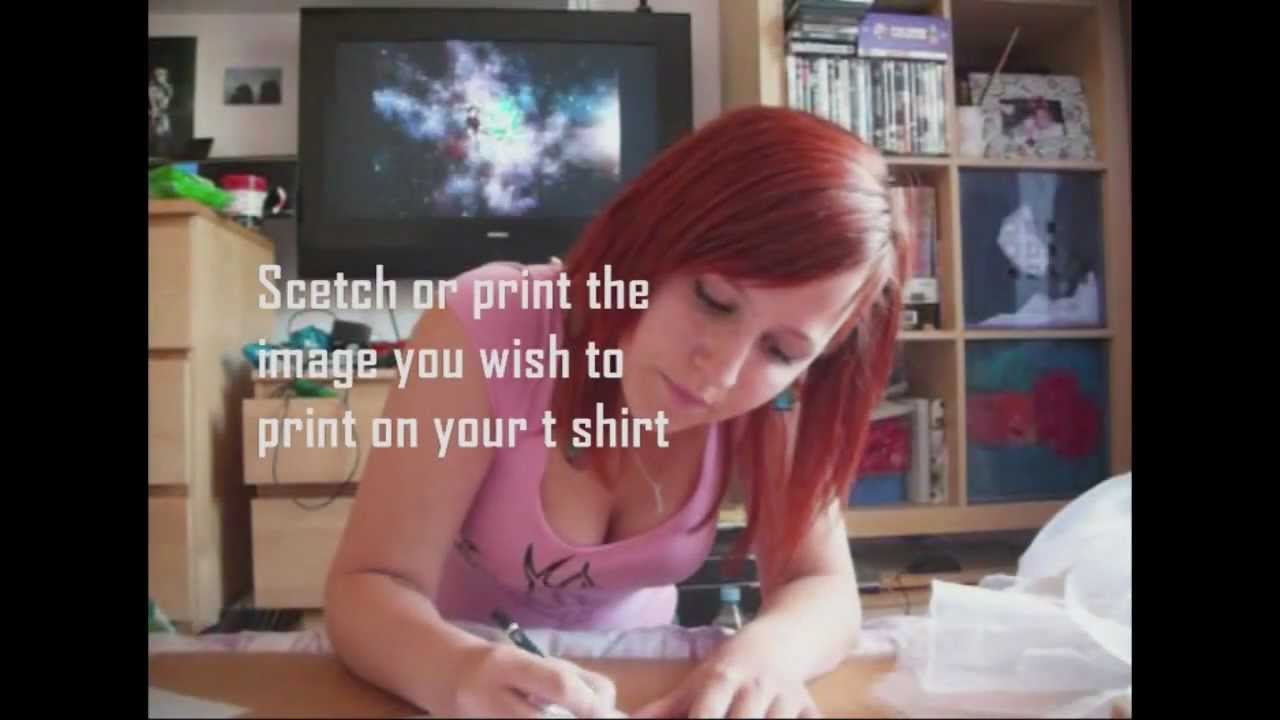 Diy t shirt screen printing at home youtube for How to print in t shirt at home