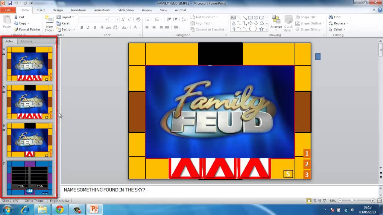 Family feud power point template
