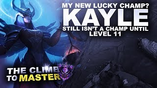 MY NEW LUCKY CHAMP? KAYLE! - Climb to Master S9 | League of Legends