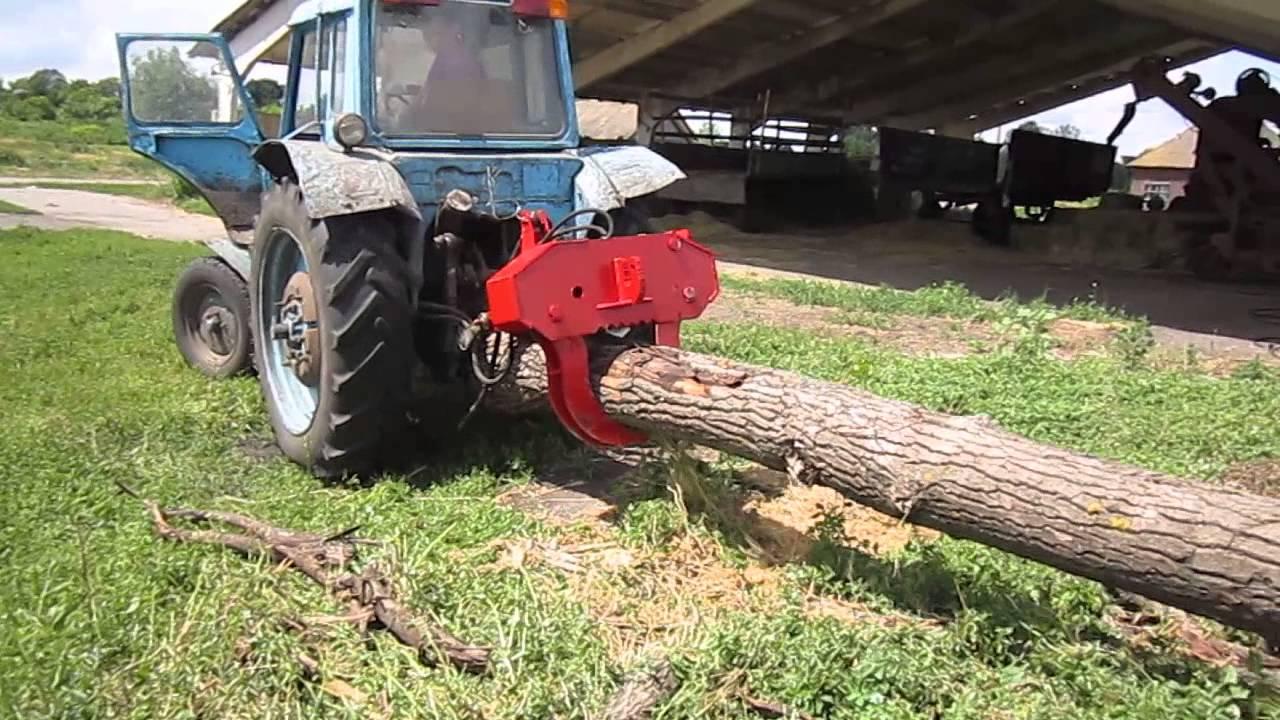 Захват для трелевки леса, гидрозахват, - ПТБ -4 , 5 У - М - YouTube