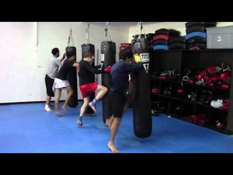 Chicago Muay Thai Kickboxing Club Skip Knee Drill Image 1