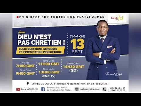 1ER CULTE D'ADORATION - 13 SEPTEMBRE 2020 / TEMPLE DE LA FOI