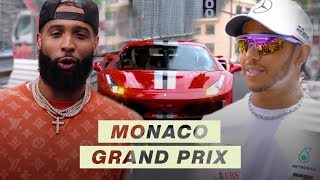 Odell Beckham Jr. Races with Lewis Hamilton at the Monaco Grand Prix | F1