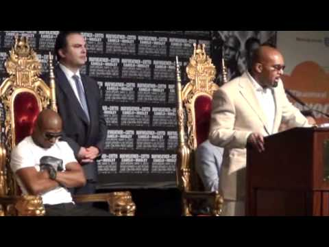 2012 Mayweather vs Cotto Final Press Conference, includes great stare down by both