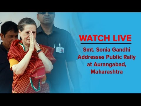 Smt. Sonia Gandhi Addresses Public Rally at Aurangabad, Maharashtra on 9 Oct 2014