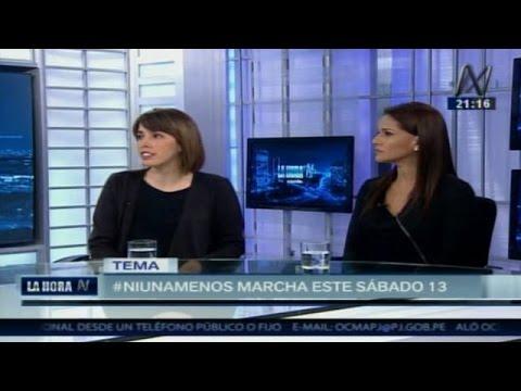 Jimena Ledgard y Mónica Sánchez hablan del significado de la marcha