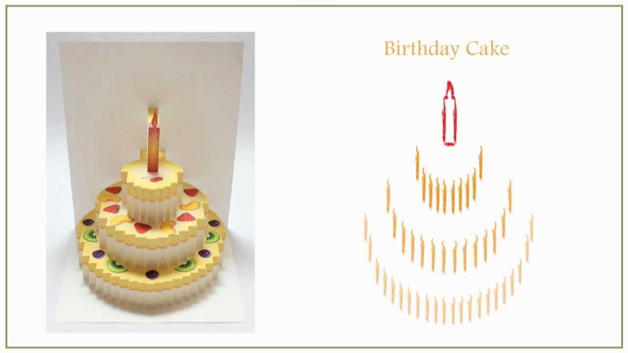 Kirigami Templates Free Birthday Cake