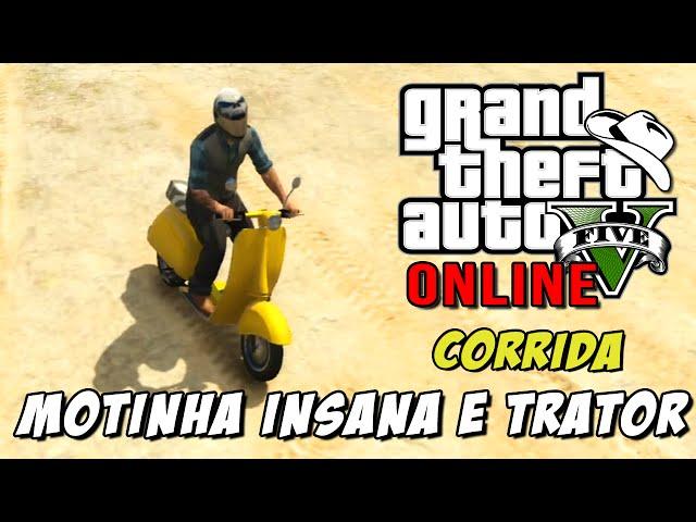 GTA 5 Online - Corrida Drag Race: Arrancadão com Trator e motinha insana
