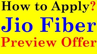 How to Apply for Jio Fiber Preview Offer | Steps to Apply | jio broadband | JIO EFFECT