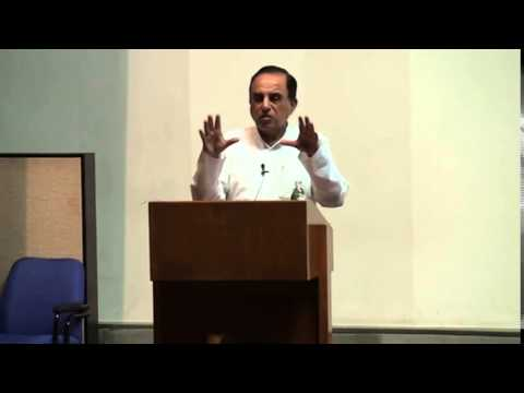 Dr Subramanian Swamy with Prof Dheeraj Sharma at IIM Ahmedabad