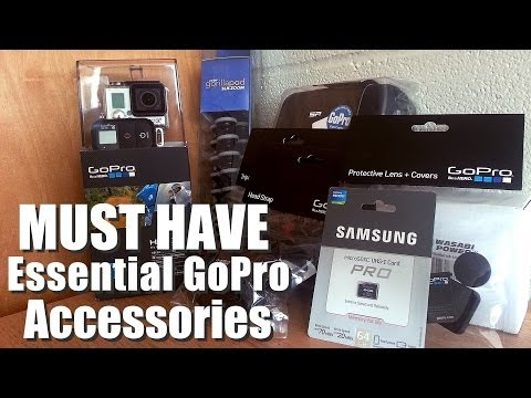 Must Have Essential Accessories for a GoPro HERO 3+ (Travel Case. Batteries. Tripod. & GoPro Mounts)
