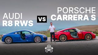 Porsche 911 Carrera S (992) vs Audi R8 RWS | PistonHeads