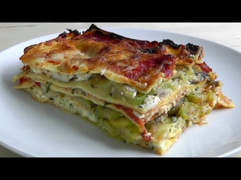 Lasagna How to Make(béchamel non-traditional sauce) lasagne Vegetarian