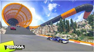 CRAZY CANYON STUNT DLC RACE (GTA 5 Funny Moments)