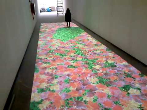 Interactive Floor With Leaf Effect Youtube