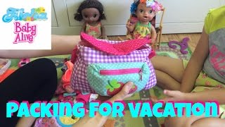 Baby Alive Darci & Alana are packing for their Hawaiian Vacation! Two Our Generation sets Unboxings!