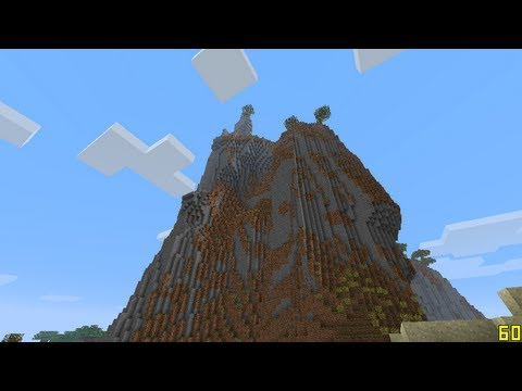 Minecraft 1.7 Mountains! Giant Extreme Hills With Seed!
