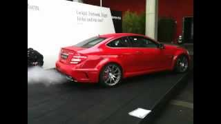 Mercedes C63 AMG Black Series - loud Revs!