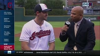 Boone Jenner of the Blue Jackets at Progressive Field