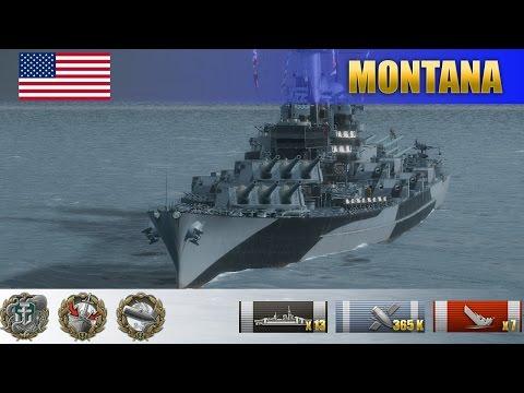 Американский линкор Montana выносит цитадели налево и направо | WoWS Replays