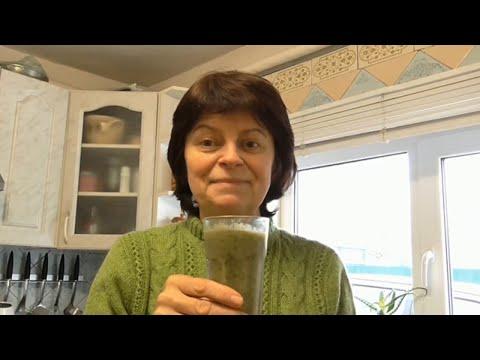 Зеленый смузи для очищения и похудения  Рецепт витаминного смузи.